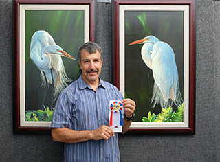 Stephen Koury with Best of Show Ribbon