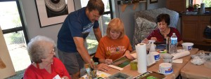 Stephen Koury At Painting Workshop