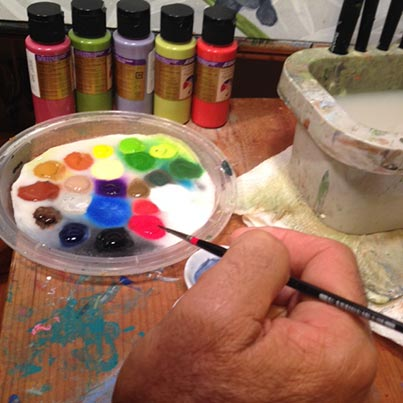 The Paint I use 4 tubes later!