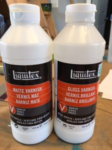 How I do a final varnish coating on my paintings