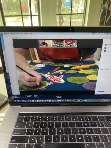 What will you learn in an online workshop and how it will look on your device.